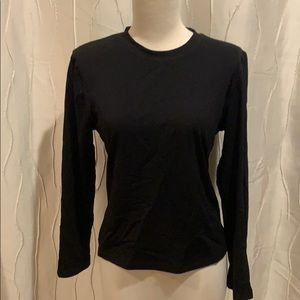 One Girl Who black long sleeve top